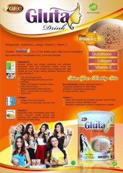 Gluta Drink - 2 Kaleng - Original Rasa Cokelat