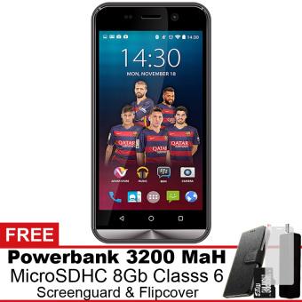 Advan i5 4G LTE - 8 GB - Hitam + Gratis Powerbank + Micro SDHC 8Gb + Screenguard + Flipcover