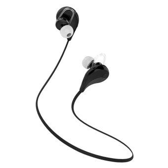 Rondaful New Wireless Bluetooth Headset Sport Stereo Earphone Headphone for Samsung LG (Black) (Intl)