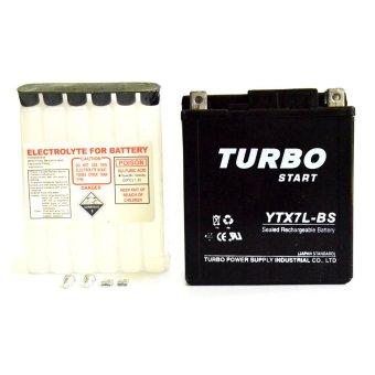 RajaMotor Suku Cadang Motor Turbo Aki Kering YTX7L-BS MF Battery KLX125/150