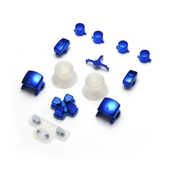 Generic Wireless Controller Blue Mod Kit Parts Dpad Triggers Buttons Thumbsticks for Playstation 3 - Intl