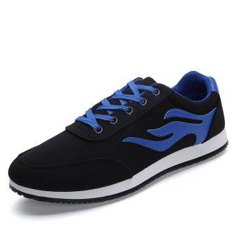 ZHAIZUBULUO Men Flat Shoes Sporty Espadrilles Lace-Ups XRS-810 Black