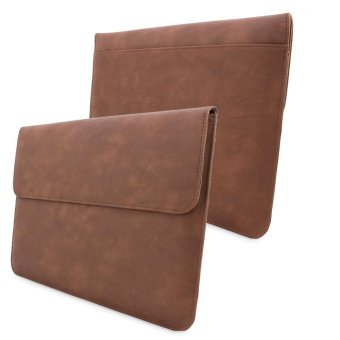 Aukey Genuine Leather Case Sleeve Bag for Apple MacBook Air Retina (Brown)