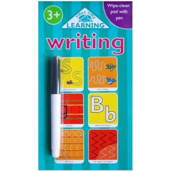 Genius Buku Anak Writing Wipe-clean pad with pen : First Time Learning