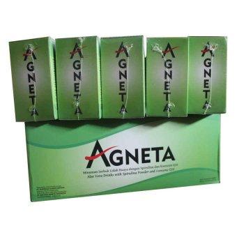 Agneta Aloevera Minuman Serbuk mengatasi gangguan saluran pencernaan 1 Box @1 Box Mini