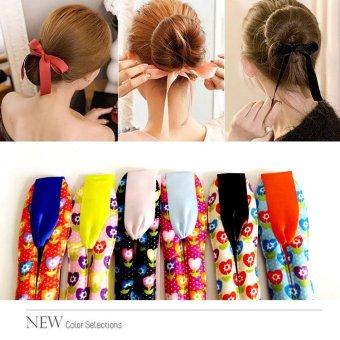 Anne - Ribbon hairdini seri 4 , hair bun tools maker, cepol rambut korea - No 4 Blue
