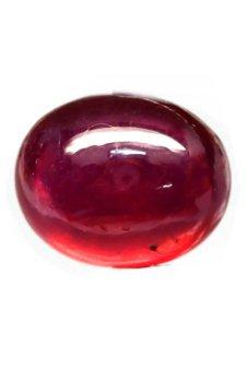 harga YenzShop RH107 Big Oval Cabochon 24.05ct Natural Pigeon Blood Ruby - Madagaskar Lazada.co.id