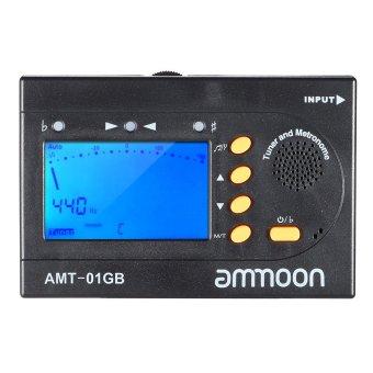 ammoon AMT-01GB Multifunctional 3in1 Digital Tuner + Metronome + Tone Generator Universal Portable for Chromatic Guitar Bass Violin - Intl
