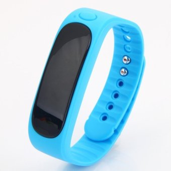 E02 Deep Waterproof Bluetooth 4.0 Smart Wrist Band Bracelet for Android & iOS Phone Blue