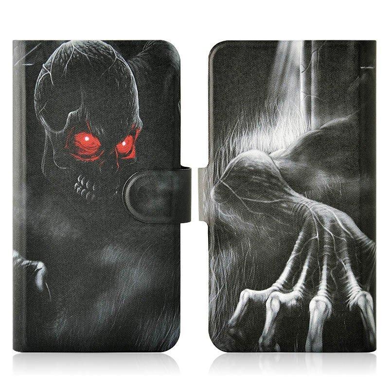 Red Eyes Skull Monster PU Leather New Flip Case Cover For Lenovo K860i K860