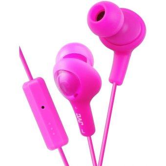 harga JVC Gumy Plus Remote + Mic HA-FR6-P Earphone - Merah Muda Lazada.co.id