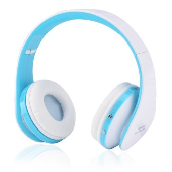 Bluetooth 4.0 Stereo Bluetooth Wireless Headphones with Call Mic (Blue)