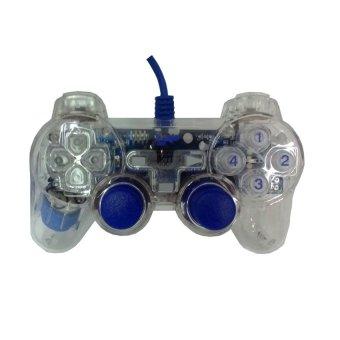 K-One Double Shock Controller Extream game - Stk - 8032A - Biru