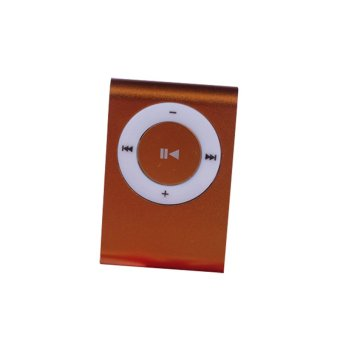 Mini Mp3 Player Aluminium Clip Usb Support Micro Sd Tf 2 4 8 Gb Orange