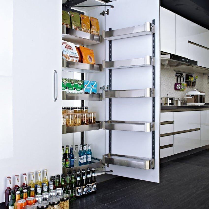 harga Kitchen Cabinet Pantry Basket OEM Factory Storage Organizer Pull Out Tall Cabinet Linkage Sliding Basket Big Monster BS1104F Lazada.co.id