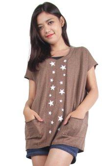 Gaia Clothe Line Blouse Star Light (Mocca)