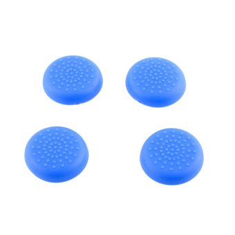 Aukey Soft Rubber Thumbstick Grips for Sony PS4 Controllers (Blue)