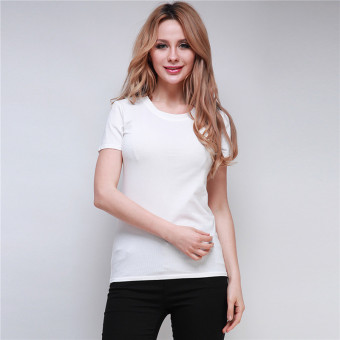 Hanyu Women Summer Vest Top Short Sleeve Blouse Casual Tank Tops T-Shirt White- Intl