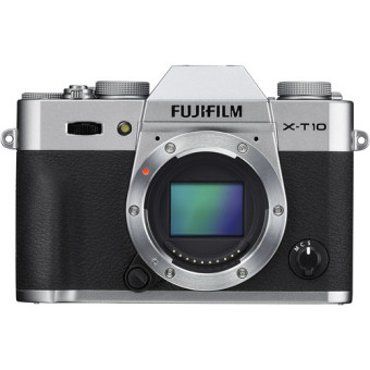 Fujifilm X-T10 Mirrorless Digital Camera With Lens 18-55mm - Silver + Memory 16GB