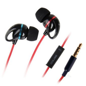 MENGS 3.5mm Earbuds 1.2 Meters Cable Stereo In-Ear Headphone MX123 For IPhone Samsung HTC (Black)