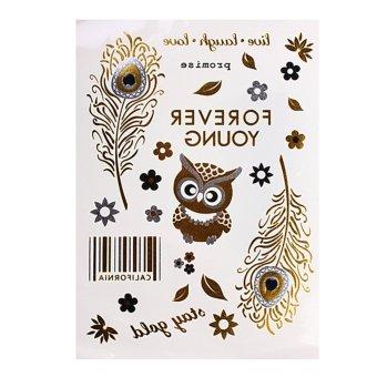 harga Jewelry Body Temporary Metallic Tattoo Gold Silver Black Flash Tattoos Inspired B Lazada.co