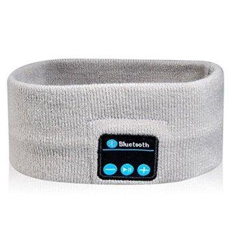Handsfree Talking Knitted Bluetooth Sports Headband Run Sleep Music Headphone - Intl