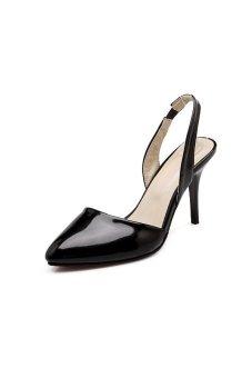 Pointed-toe High heel sandals shoe(Black) (Intl)