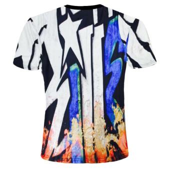 Fashion painted 3D T-shirts XXL code- Intl