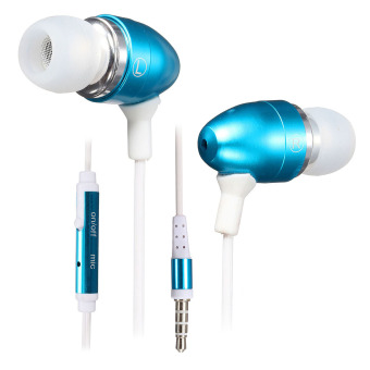 3.5mm Super Bass Stereo Earphone for iPhone Samsung LG MP3 (Blue) (Intl)