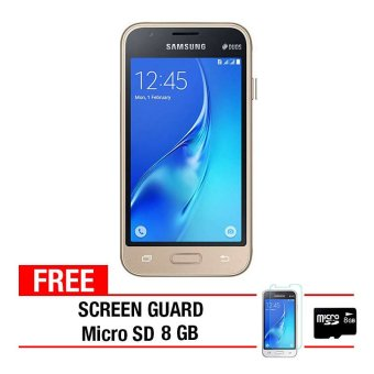 Samsung Galaxy J120 2016 8GB - Gold + Gratis Anti Gores + Micro SD 8GB