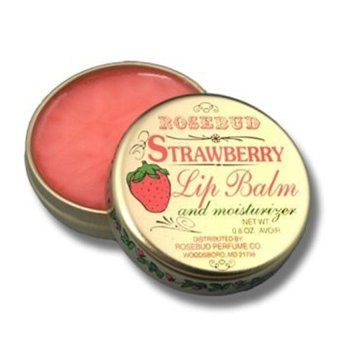 Rosebud Strawberry Lip Balm TIN