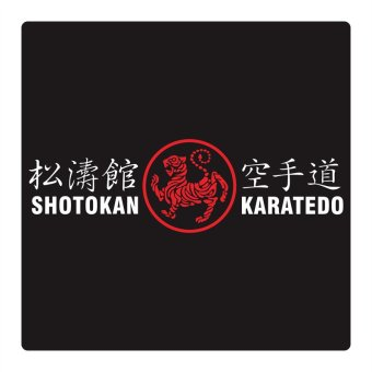 Fighterstown Cutting Sticker Shotokan Karate Long 2 Colour