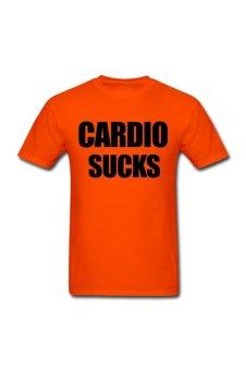 Men's Cardio sucks Designed T-Shirt for orange - Intl