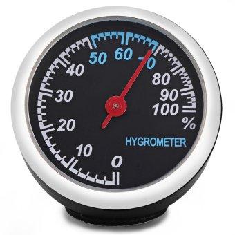Mechanics Car Hygrometer Digital for 12V Auto Time (Black) - Intl