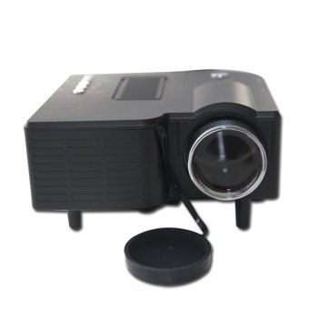 Brand new HD Portable Mini Multimedia LED Projector For Home Cinema Theater Computer PC&Laptop TV Displayer VGA USB SD AV HDMI US Plug (Black) - Intl
