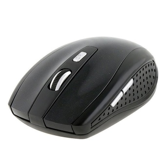 2.4GHz Wireless Optical Mouse With USB 2.0 Receiver for PC Laptop Black (Intl)