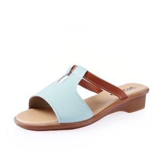 YINGLUNQISHI Women Platform Slipper Sandals Shoes (Blue) - INTL