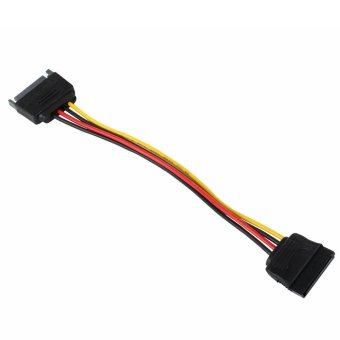 landor Male to Female 15 Pin SATA Power Extension Cable (Total Length: 20cm/7.9inch) - Intl