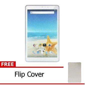 Advan Vandroid T3H - 8GB - Putih + Gratis Flipcover Putih