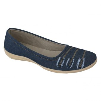 Aleganza Fashionable Casual Flat Shoes-Kuliah/Kerja Wanita Biru
