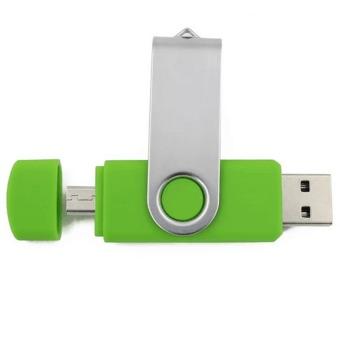 Cut rotational memory storage stick u disk pendriver 16GB usb2.0 pen drive usb flash drive(Green) - Intl