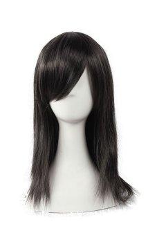 Final Fantasy Tifa Lockhart Cosplay Wig Black Long Straight Hair (Black)- Intl