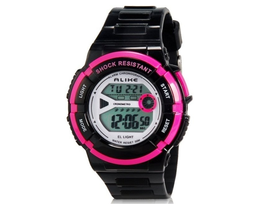 harga ALIKE A14103 Kids Multi-functional 50M Waterproof Sports LED Electronic Wrist Watch with Stopwatch Night Light & Alarm Clock Function (Black) (Intl) Lazada.co.id