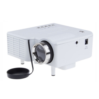 ZOMTOP UC28 Portable LED Projector Cinema Theater PC&Laptop VGA/USB/SD/AV/HDMI Input White Mini Pocket Projector (White) (Intl)
