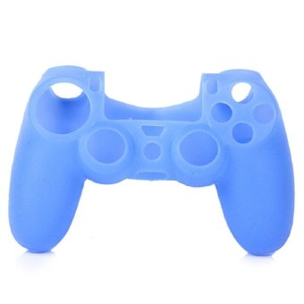 Silicone Skin Case Cover for Controller Sony PlayStation 4 (Blue)