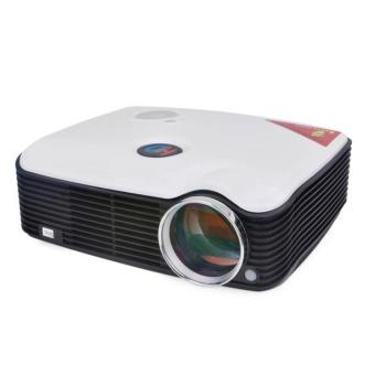 LED Projector Multimedia 800*600 2500 Lumens LCD HDMI USB For Home Theater White (Intl)