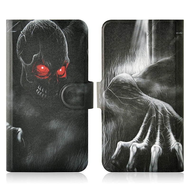 Red Eyes Skull Monster PU Leather New Flip Case Cover For Nokia Lumia 928