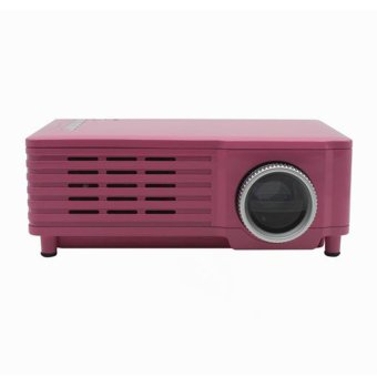 GP8 LCD LED 1080 P Video Mini Full HD Portable 3D Projector HD Home Theater Pink (Intl)