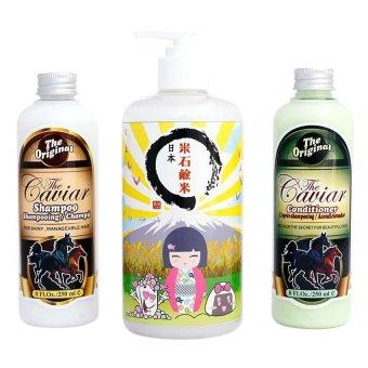 Shin Khurim Paket Perawatan Tubuh dan Badan Sekken shui + Caviar Shampoo + Conditioner Caviar
