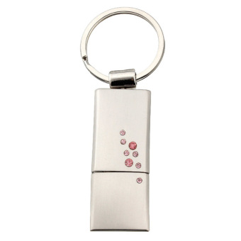 32GB USB 2.0 Flash Memory Stick Drive Pen Storage U-Disk Metal Crystal QH Pink - Intl